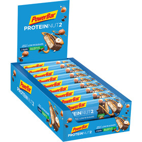 PowerBar Protein Nut 2 Bar Box 18x2x22,5g, Milk Chocolate Hazelnut